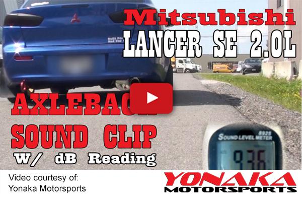 Yonaka 2012-2017 Mitsubishi Lancer Axleback Exhaust Muffler